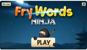 Fry Words Ninja app