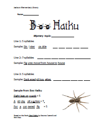 boo haiku stu sheet