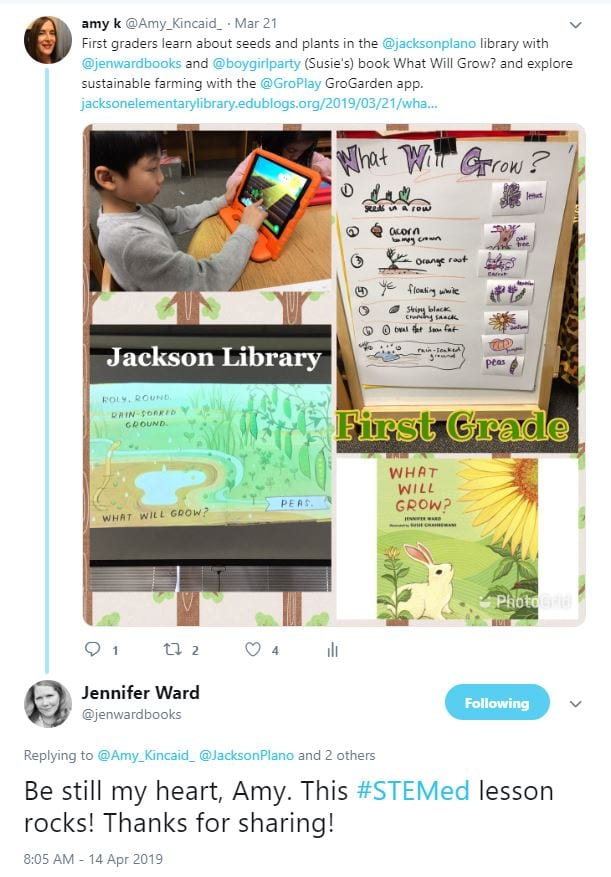 Jen Ward author tweet