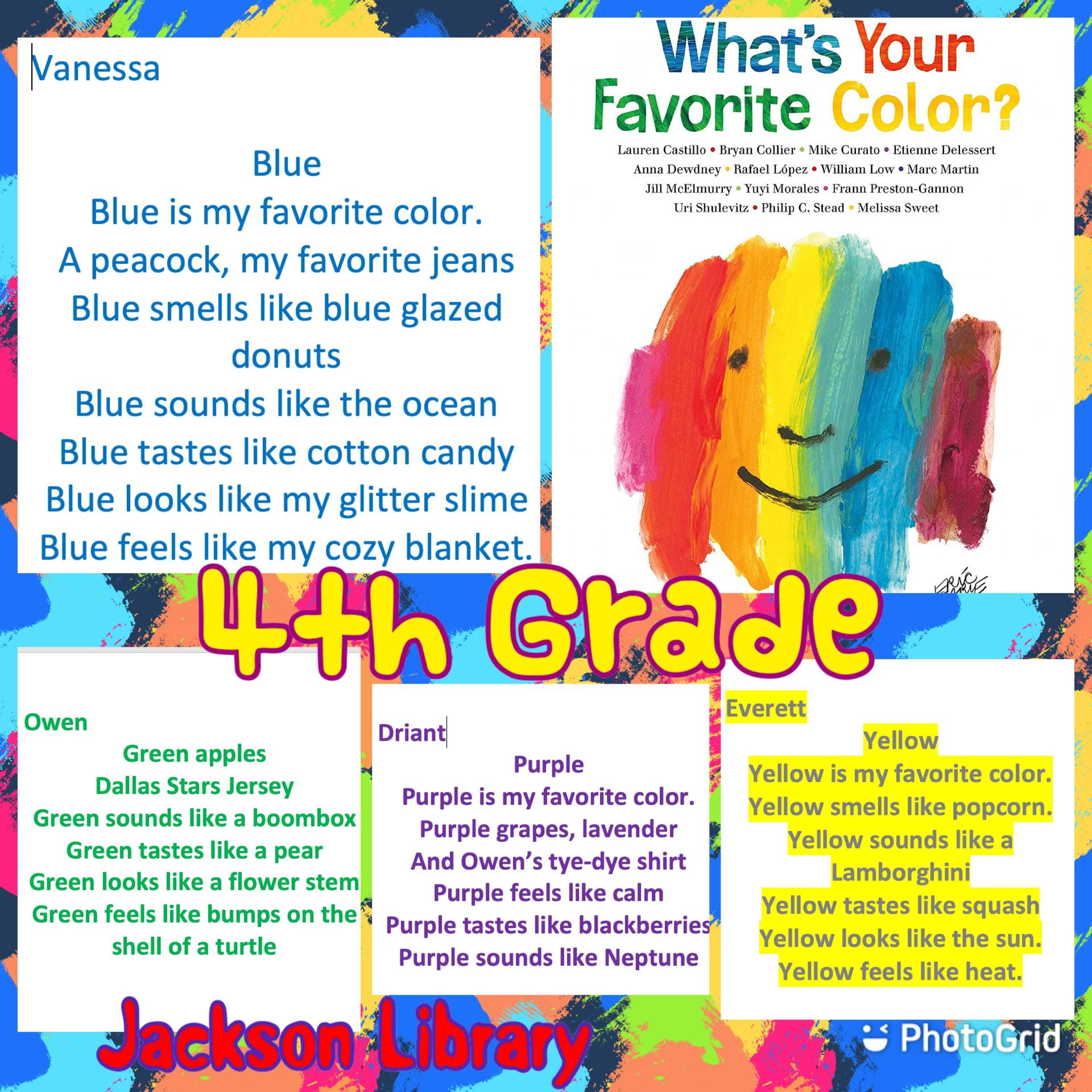 4th color poems