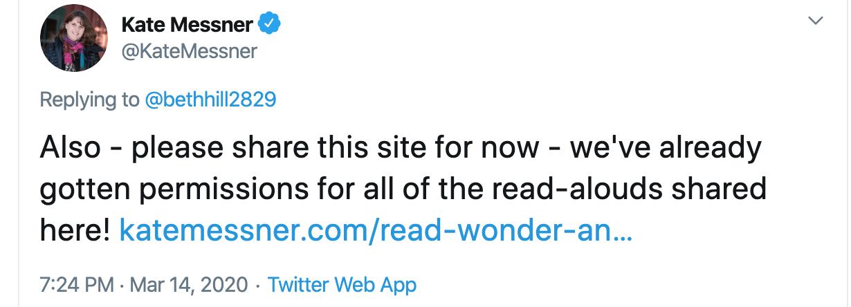 Kate Messner tweet