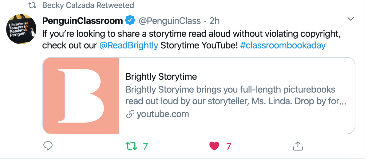 Tweet Brightly Storytime
