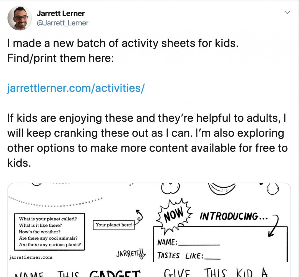 Jarrett Lerner activities