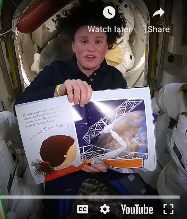 astronaut read aloud