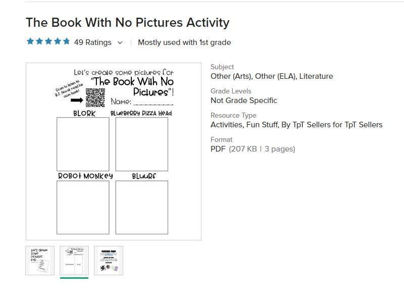 bk no pict activity