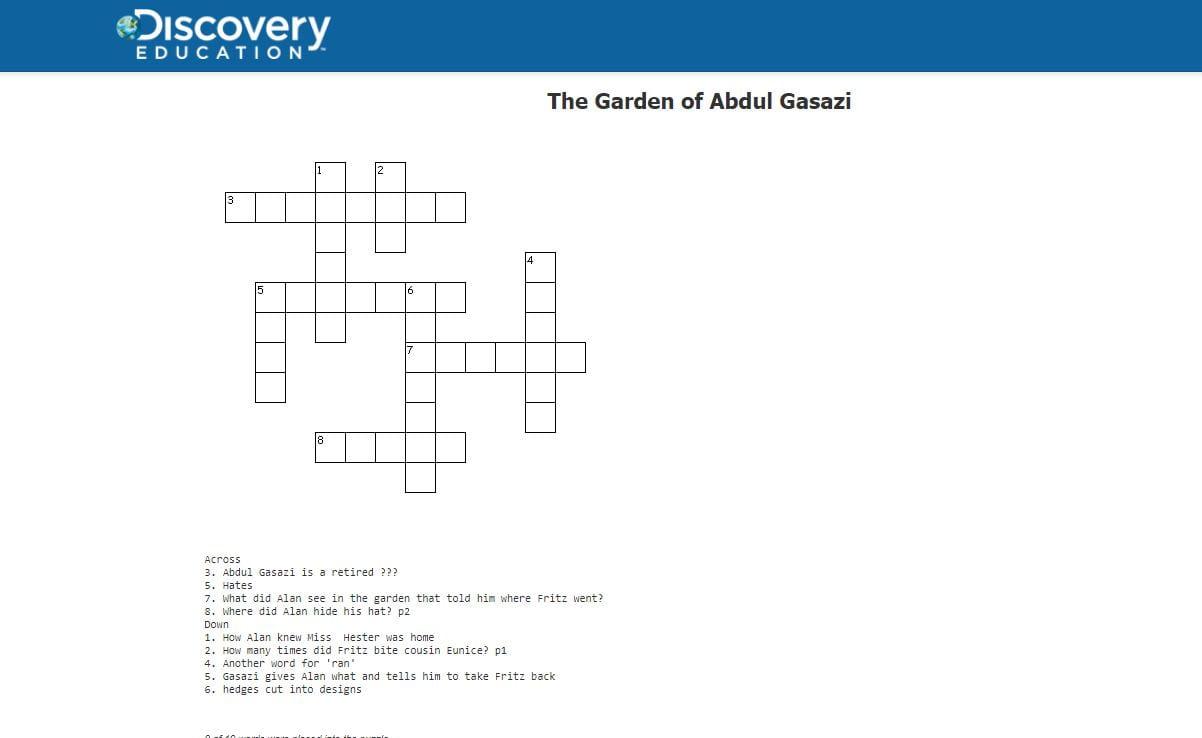 Gasazi puzzle