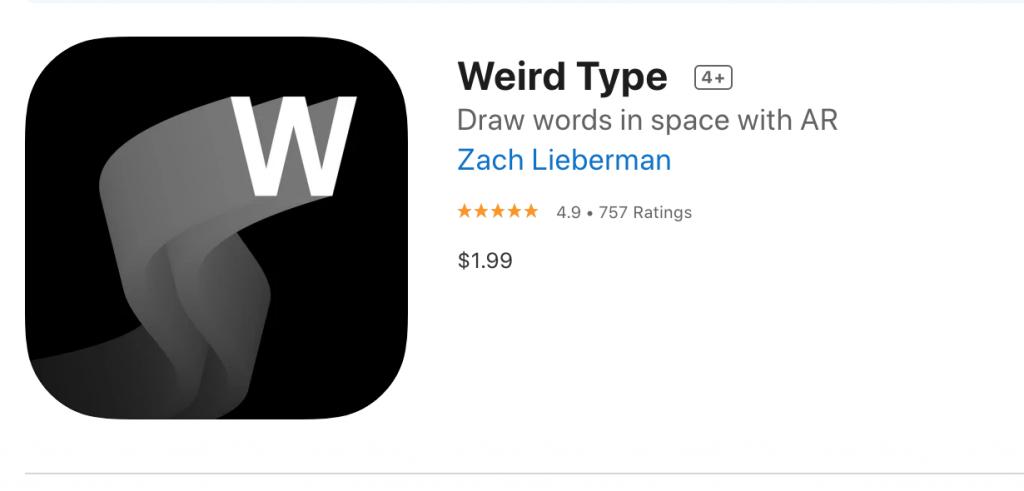 weird type app