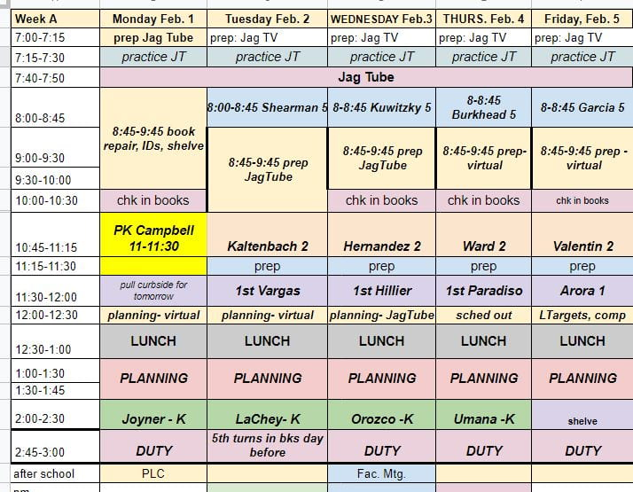 feb 1-5 sched
