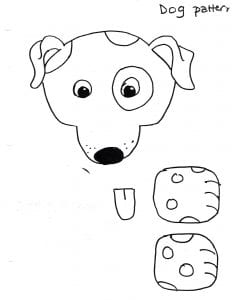 harry dog pattern puppet