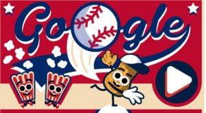 baseball google doodle