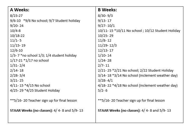 counselor sched