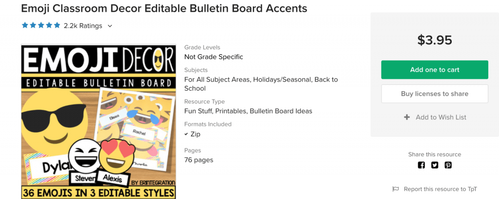 Erintegration Emoji Bulletin Board Templates
