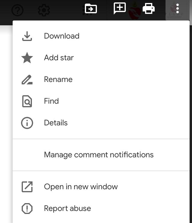 open goo doc in new window